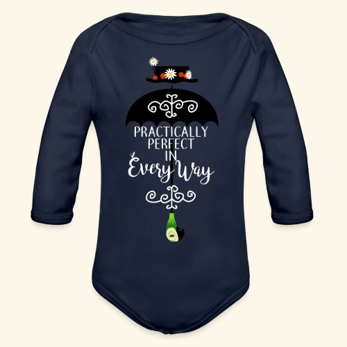 Practically Full-Colored - Organic Long Sleeve Baby Bodysuit