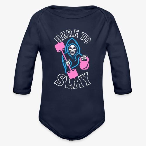 Here To Slay - Organic Long Sleeve Baby Bodysuit