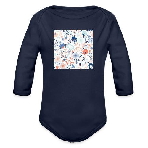 flowers - Organic Long Sleeve Baby Bodysuit