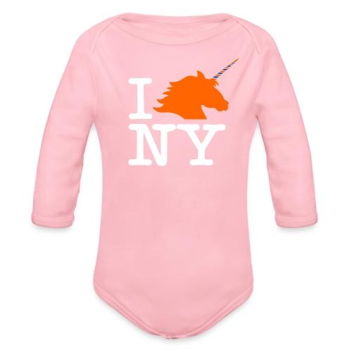 I Unicorn New York (Kristaps Porzingis) - Organic Long Sleeve Baby Bodysuit