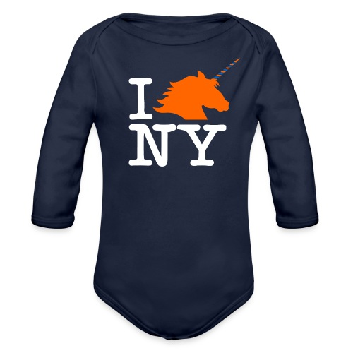 I Unicorn New York (Kristaps Porzingis) - Organic Long Sleeve Baby Bodysuit