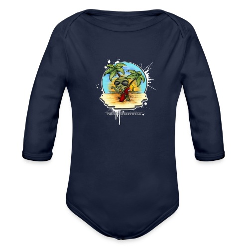 let's have a safe surf home - Organic Long Sleeve Baby Bodysuit