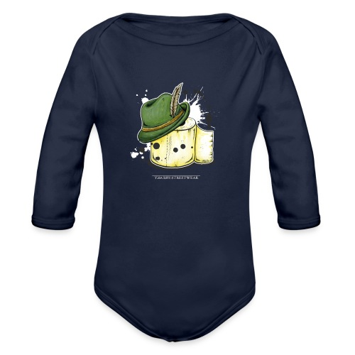 The hunter & the toilet paper - Organic Long Sleeve Baby Bodysuit