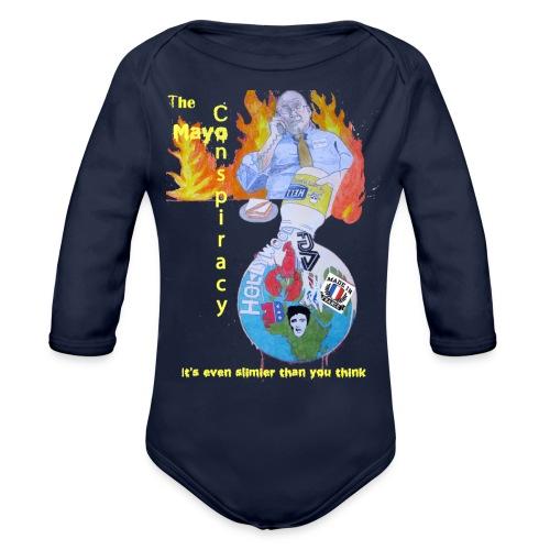 Mayo-Conspiracy - Organic Long Sleeve Baby Bodysuit
