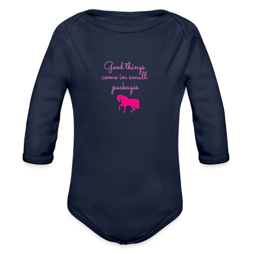 Good Things Come in Small Packages - Organic Long Sleeve Baby Bodysuit
