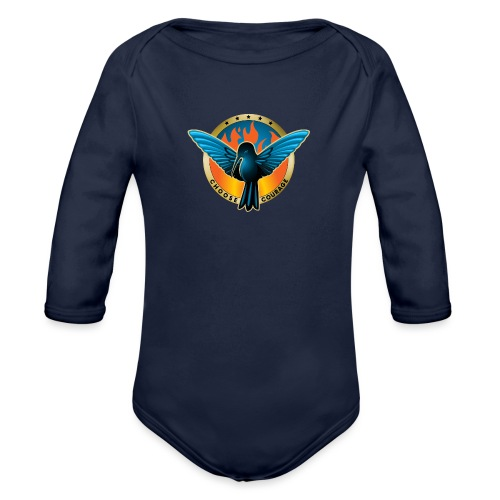 Choose Courage - Fireblue Rebels - Organic Long Sleeve Baby Bodysuit