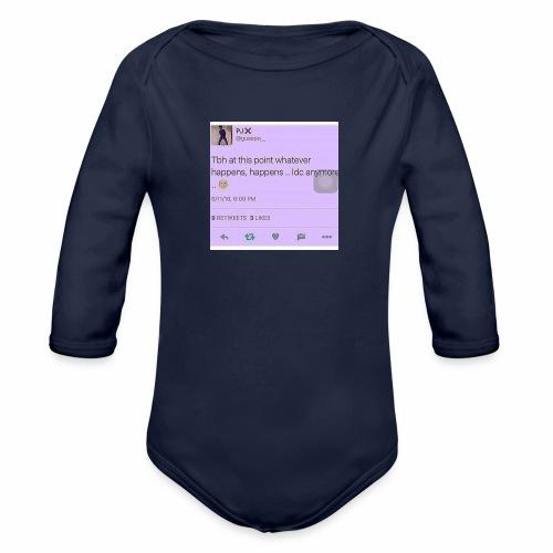 Idc anymore - Organic Long Sleeve Baby Bodysuit