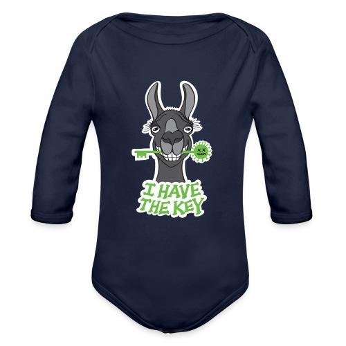 Proud black llama has the key against coronavirus - Organic Long Sleeve Baby Bodysuit