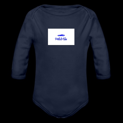 Blue 94th mile - Organic Long Sleeve Baby Bodysuit