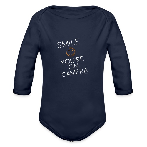 Smiley Cam Alert - Organic Long Sleeve Baby Bodysuit