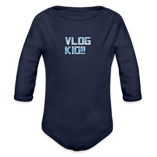 Vlog Kid - Organic Long Sleeve Baby Bodysuit