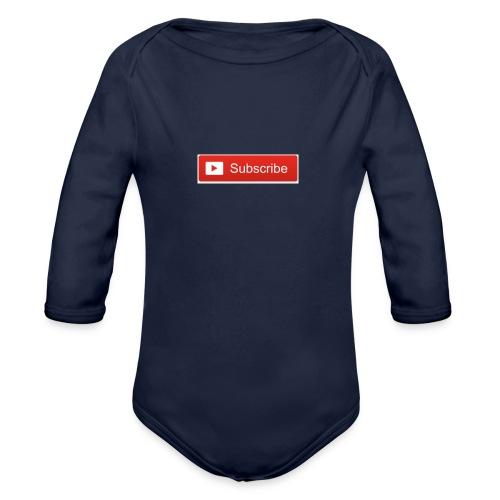 YOUTUBE SUBSCRIBE - Organic Long Sleeve Baby Bodysuit