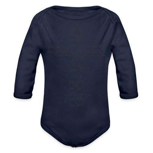 Jesus, I live for you! - Organic Long Sleeve Baby Bodysuit