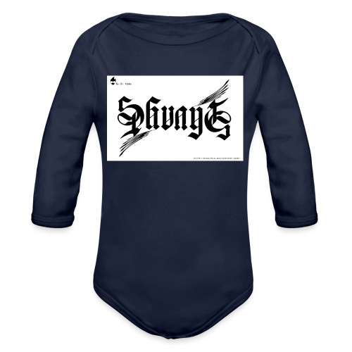 savage - Organic Long Sleeve Baby Bodysuit