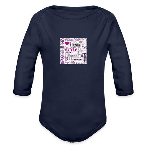 fashion word collage - Organic Long Sleeve Baby Bodysuit