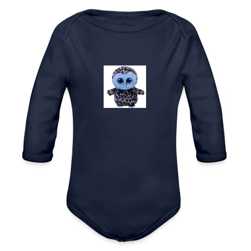 blue_hootie - Organic Long Sleeve Baby Bodysuit