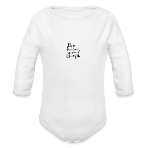 Throw kindness around - Organic Long Sleeve Baby Bodysuit