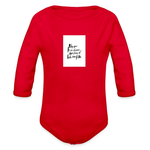 Throw kindness around - Organic Long Sleeve Baby Bodysuit
