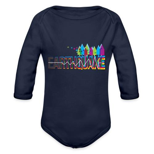 Earthquake - Organic Long Sleeve Baby Bodysuit