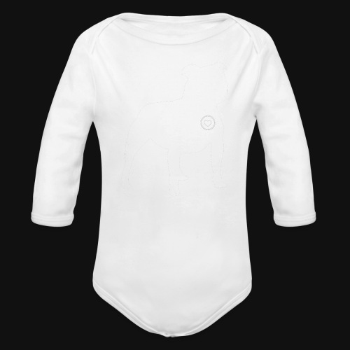 Staffy love - Organic Long Sleeve Baby Bodysuit
