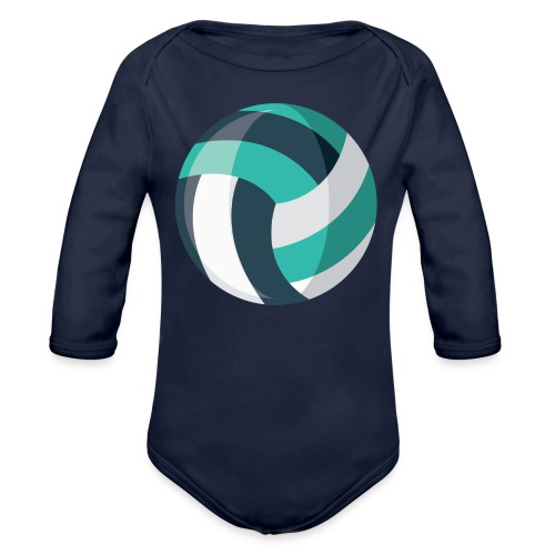 Volleyball - Organic Long Sleeve Baby Bodysuit