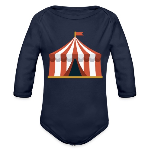 Striped Circus Tent - Organic Long Sleeve Baby Bodysuit