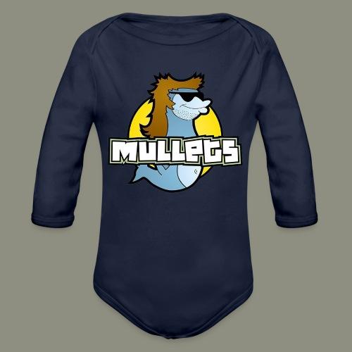 mullets logo - Organic Long Sleeve Baby Bodysuit