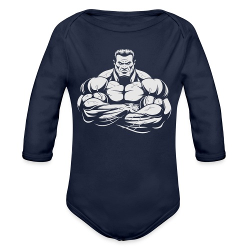 An Angry Bodybuilding Coach - Organic Long Sleeve Baby Bodysuit