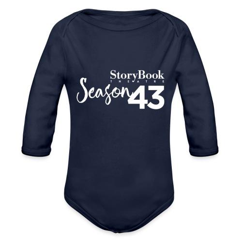 SBT43 Season43 LOGO WHT - Organic Long Sleeve Baby Bodysuit