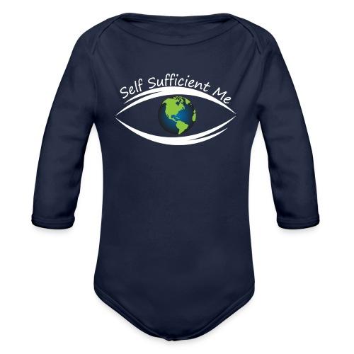 Self Sufficient Me Logo Large - Organic Long Sleeve Baby Bodysuit
