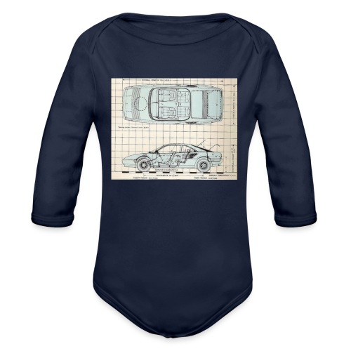 drawings - Organic Long Sleeve Baby Bodysuit