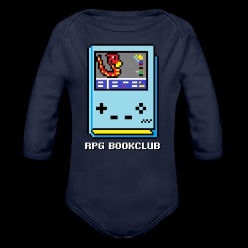 RPG Bookclub Logo - Organic Long Sleeve Baby Bodysuit