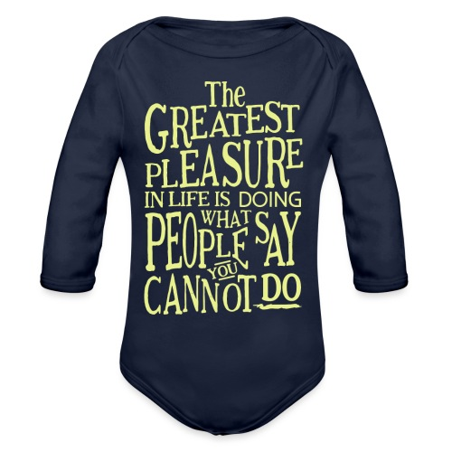The Greatest Pleasure - Organic Long Sleeve Baby Bodysuit