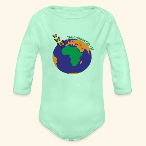 The CG137 logo - Organic Long Sleeve Baby Bodysuit