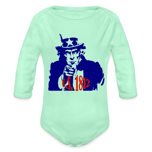 uncle-sam-1812 - Organic Long Sleeve Baby Bodysuit