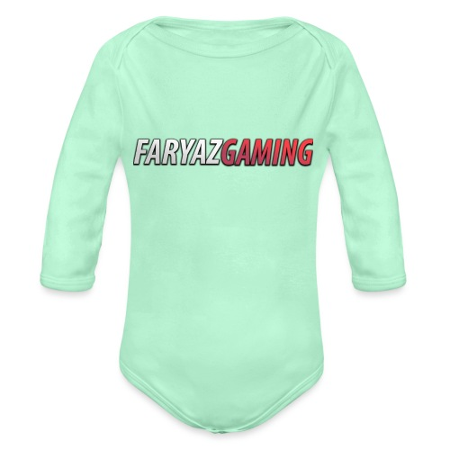FaryazGaming Text - Organic Long Sleeve Baby Bodysuit