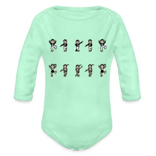 flappersshirt - Organic Long Sleeve Baby Bodysuit
