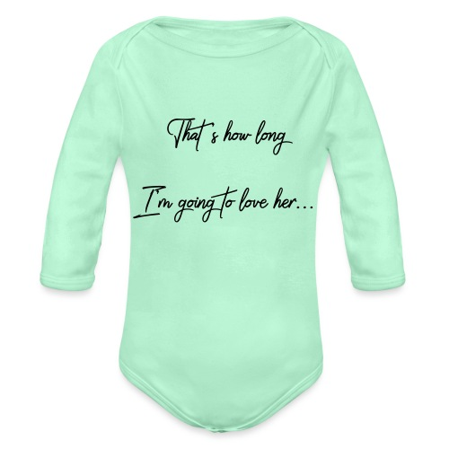 longloveher - Organic Long Sleeve Baby Bodysuit