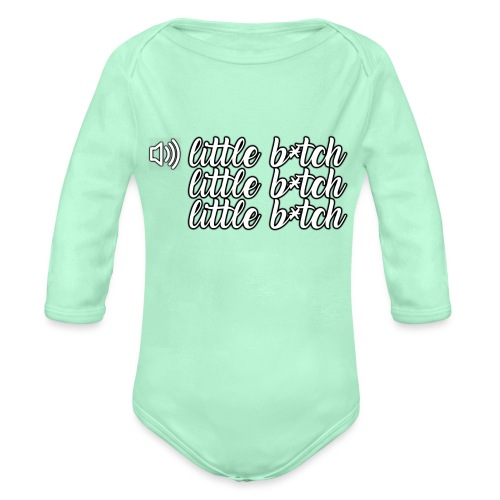 Whostun Classic rage after death - Organic Long Sleeve Baby Bodysuit