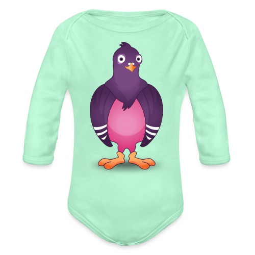 Pidgin logo - Organic Long Sleeve Baby Bodysuit