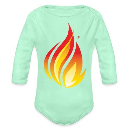 HL7 FHIR Flame Logo - Organic Long Sleeve Baby Bodysuit