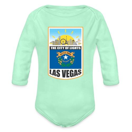 Las Vegas - Nevada - The city of light! - Organic Long Sleeve Baby Bodysuit