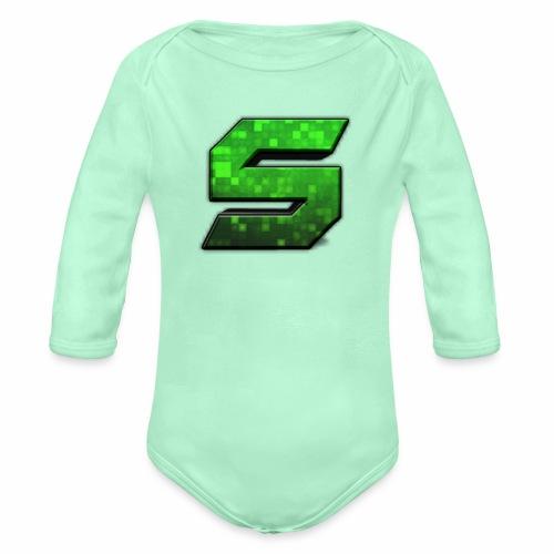 seans logo - Organic Long Sleeve Baby Bodysuit