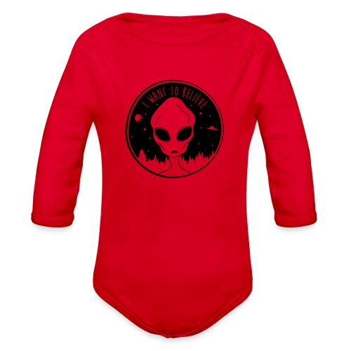 I Want To Believe - Organic Long Sleeve Baby Bodysuit