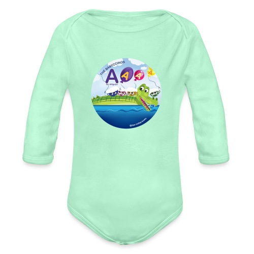 The Babyccinos The Letter A - Organic Long Sleeve Baby Bodysuit