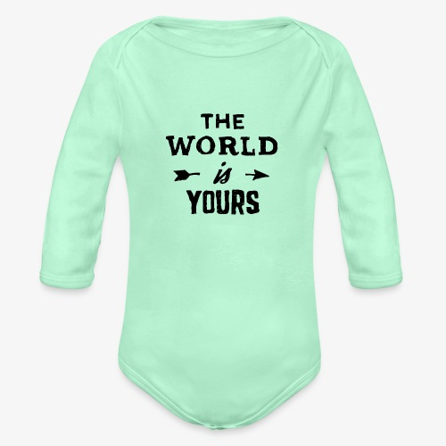 the world - Organic Long Sleeve Baby Bodysuit