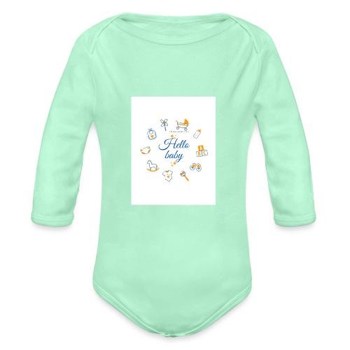 Hello baby - Organic Long Sleeve Baby Bodysuit