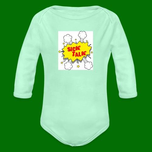 Sick Talk - Organic Long Sleeve Baby Bodysuit