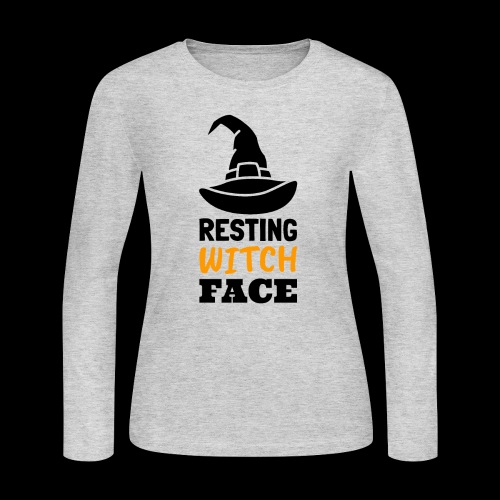 Resting Witch Face | Funny Halloween - Women's Long Sleeve Jersey T-Shirt