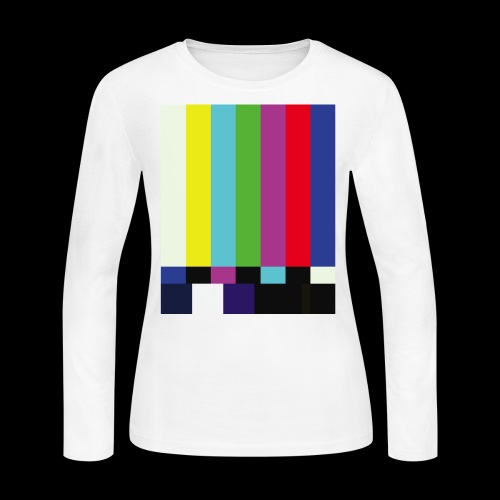 This is a TV Test   Retro Television Broadcast - Women's Long Sleeve Jersey T-Shirt